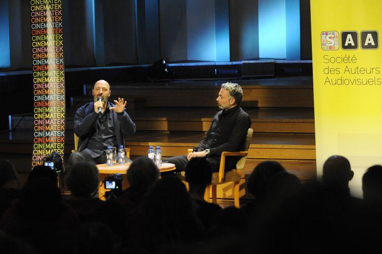 Cédric Klapisch discussing his work with Cineuropa's Domenico La Porta