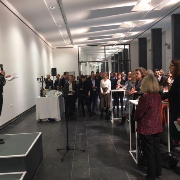 Anna Serner speaks to guests